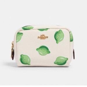 NWT-Coach Lime mini cosmetic case